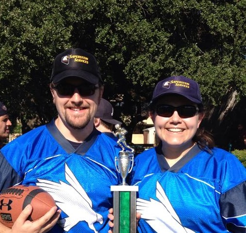 Jenny and her husband Patrick at the 2014 Polity Bowl