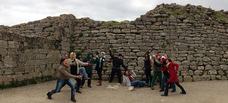 Jan Term Group Photo in Turkey- Reenacting the Battle of Troy