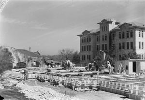 Construction of the Foundation for Shelton Chapel, circa 1940s